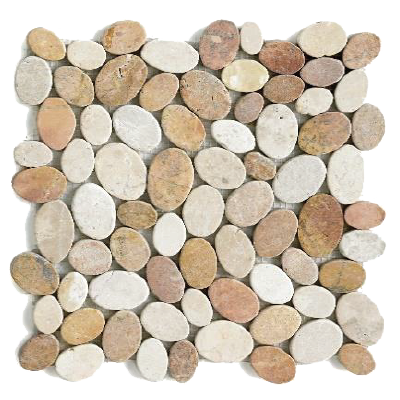 Mosaïque Coin white and pink