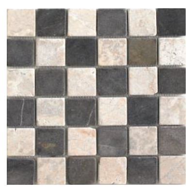 Mosaïque Parquet 5x5 White and grey