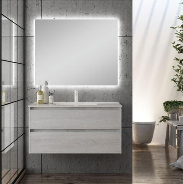 Meuble de salle de bains SIRI 100cm finition Hibernian