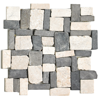 Mosaïque Square-Random-White-&-Grey