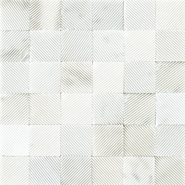 Mosaïque Stone Grooved White