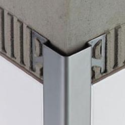 Profil inox d 39 angle 30x30x10 en barre de for Profile carrelage inox
