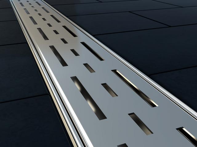 canaline de douche italienne avec grille 100cm. Black Bedroom Furniture Sets. Home Design Ideas