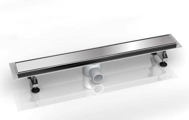 canaline de douche italienne avec cache inox 90cm. Black Bedroom Furniture Sets. Home Design Ideas
