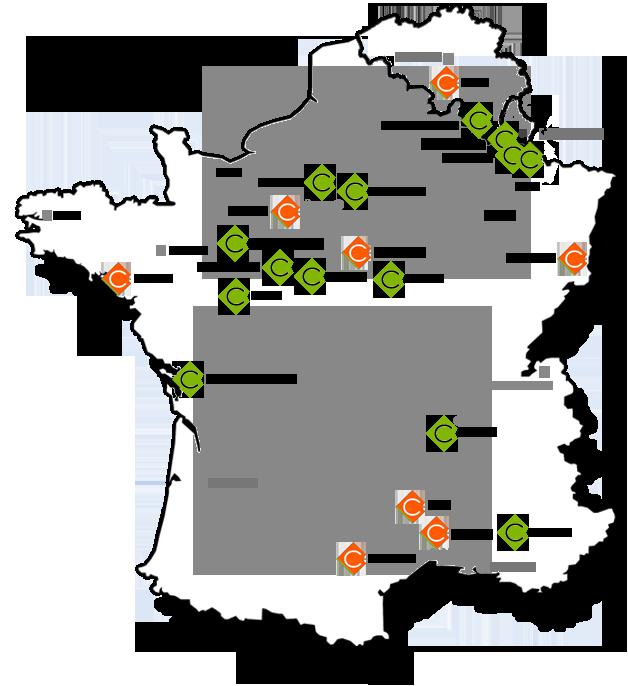 Carte des magasins de carrelage