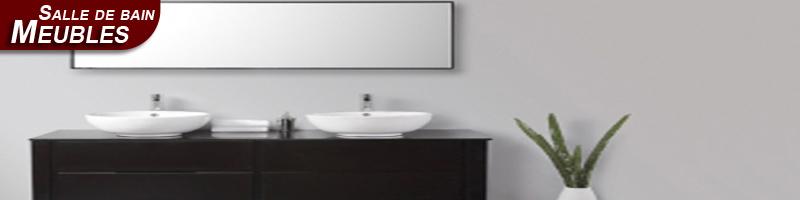 Le mobilier et carrelage de salle de bain