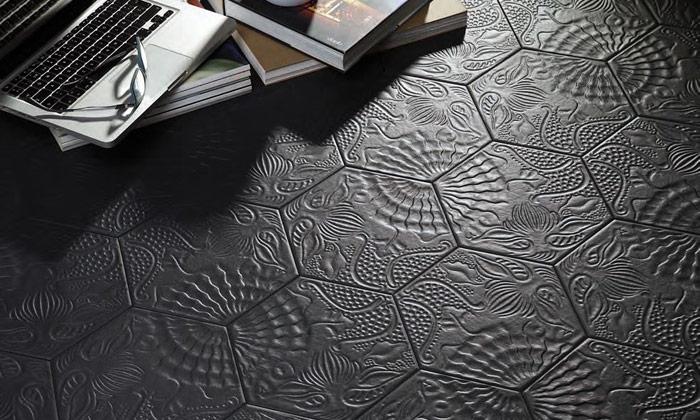 Costiles Carrelage Hexagonal Gaudi Lux Black 25 X 22cm