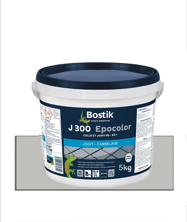 Joint carrelage BOSTIK J-300 Epocolor gris argent- 5Kg
