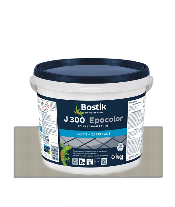 Joint carrelage BOSTIK J-300 Epocolor gris moyen- 5Kg
