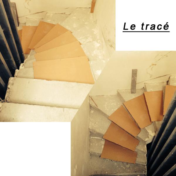 pose d un escalier avec contre marche faux limon et. Black Bedroom Furniture Sets. Home Design Ideas