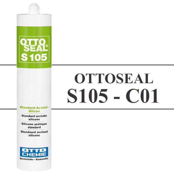 Silicone OTTOSEAL S105 - Blanc C01 - 310ml - OTTO-CHEMIE