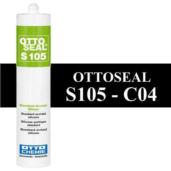 Silicone OTTOSEAL S105 - Noir C04 - 310ml - OTTO-CHEMIE