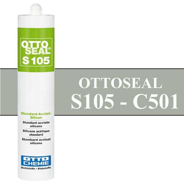 Silicone OTTOSEAL S105 - Gris clair C501 - 310ml - OTTO-CHEMIE