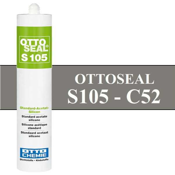 Silicone OTTOSEAL S105 - Gris ciment C52 - 310ml - OTTO-CHEMIE
