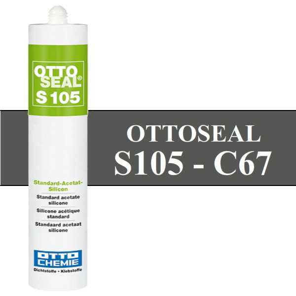 Silicone OTTOSEAL S105 - Anthracite C67 - 310ml - OTTO-CHEMIE