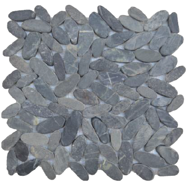 Mosaïque pebbles-vertical-black