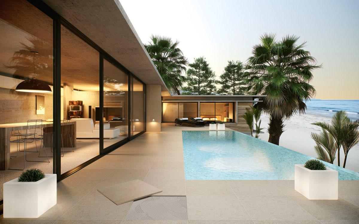 transition intérieure et extérieur, terrasse dalles 2cm