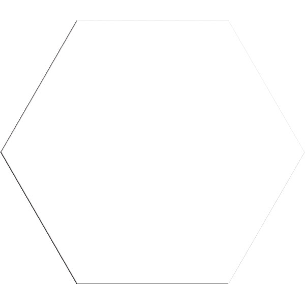 Vintage Hexagonal Blanco