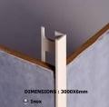 Les profil s et joints pour pose de carrelage for Profile carrelage inox