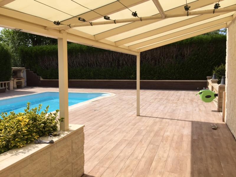 Carrelage terrasse imitation bois