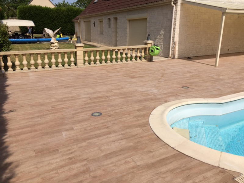 Cheap With Carrelage Imitation Bois Piscine