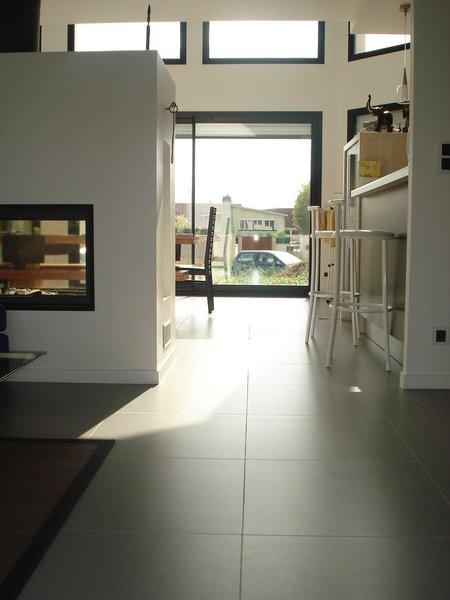 R alisation d 39 une terrasse et d 39 un escalier avec du for Carrelage urban grey